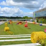 """La décoration """"agricole"""" du Parc des Expos"""